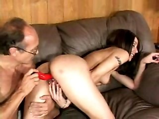 Dildo loving biotch gets ass fucked