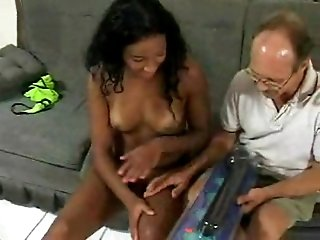 Teen black chick loves dildo fucking