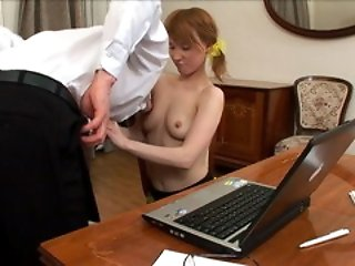 Teacher could not resist her fresh body and fucked her tight lubricious tart.