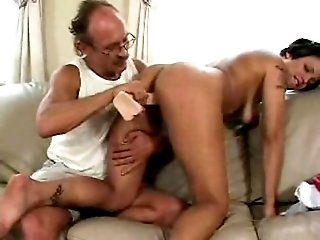 Sexy seductress fucked by hot daddy