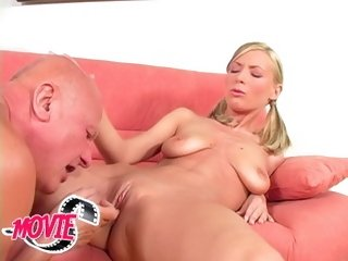 Horny Helena gets old cock in her tight pussy