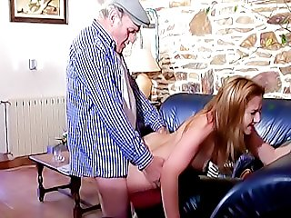 Good old Papy does it again fucking this hot nubile chick from behind and making her almost scream of pleasure
