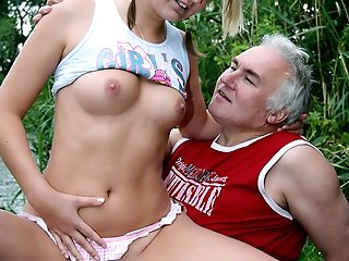 Old fart fucked very hard