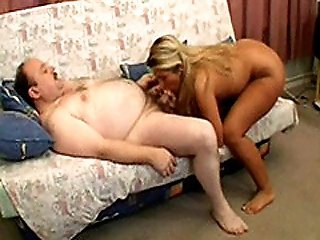 Sexy Young Blonde Gets Fucked Doggystyle By A Fat Old Geezer